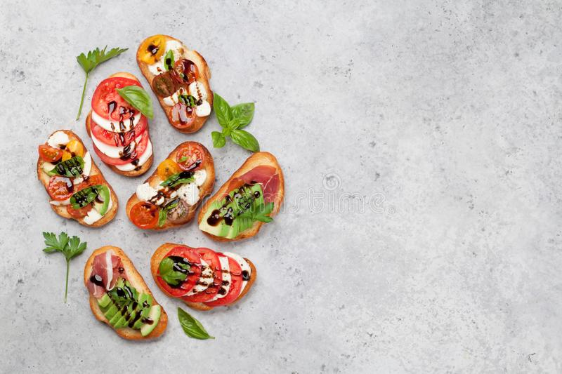 Traditional spanish tapas royalty free stock images