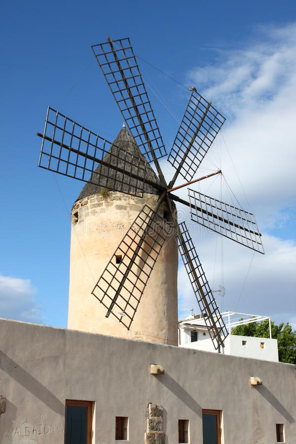 Traditional spanish windmill royalty free stock images