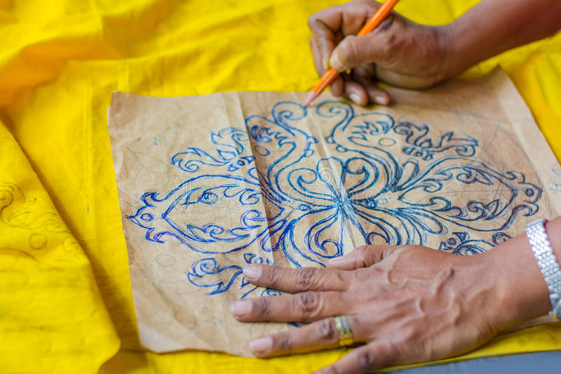 Traditional Sri Lankan handloom and batik product manufacturing workshop. A Wide Range Of handloom Items Made Of thread Utility And Beauty Adding Elegance To royalty free stock images