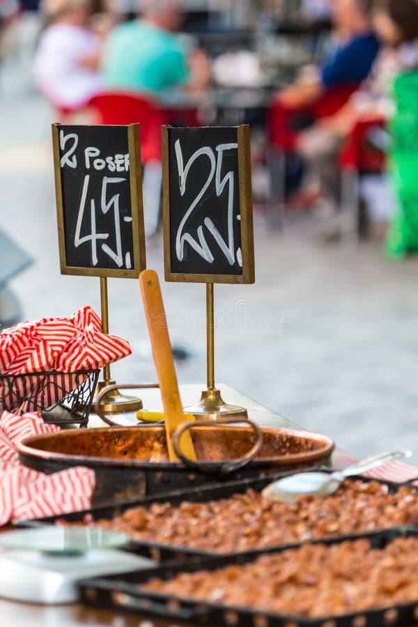 Traditional street food in Copenhagen, Denmark.  stock image