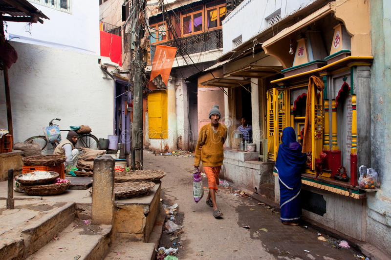 Download Traditional Street Life With A Sellers, A Praying Woman And Passers-by People Editorial Stock Photo - Image of mumbai, different: 33459428