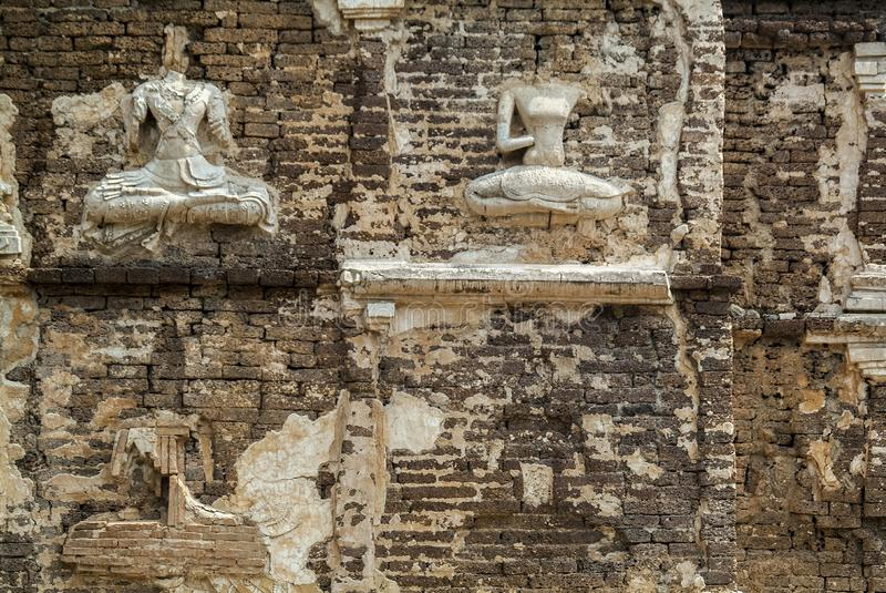 Traditional stucco / Historical attractions and historic sites in Chiangmai Thailand. Traditional stucco , Historical attractions and historic sites in Chiangmai stock photos