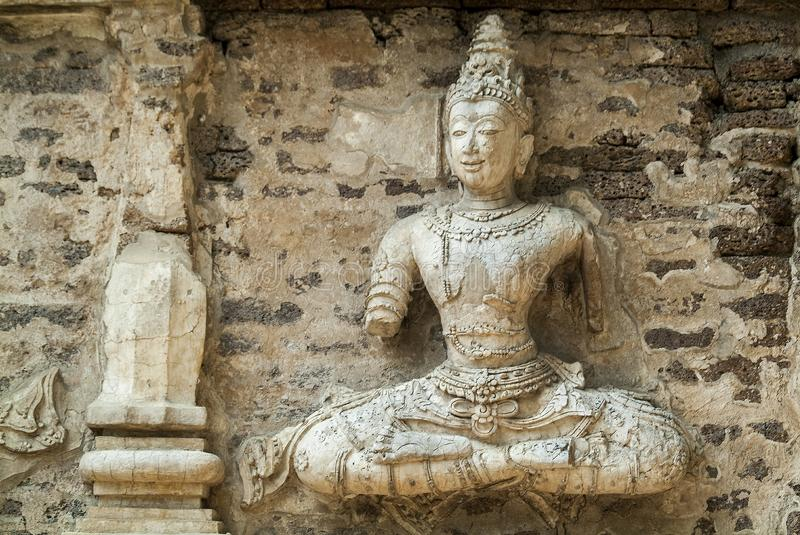 Traditional stucco / Historical attractions and historic sites in Chiangmai Thailand. Traditional stucco , Historical attractions and historic sites in Chiangmai stock photography