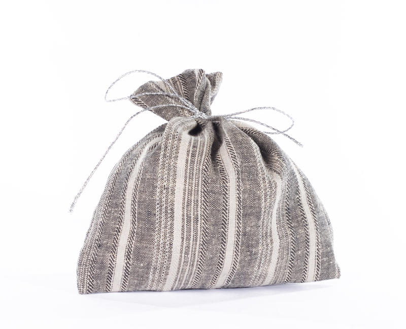 Download Traditional Style Linen Gift Bag. Stock Photo - Image: 17757794