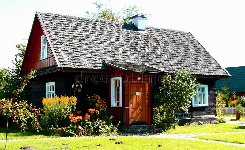 Traditional style village house. In Poland royalty free stock photography