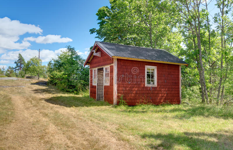 Nice Download Traditional Swedish Cabin Painted In Red Color Stock Photo   Image  Of House, Europe