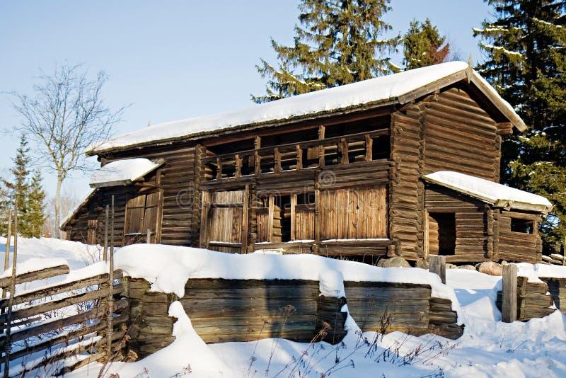 Traditional Swedish House In Skansen Stockholm Stock