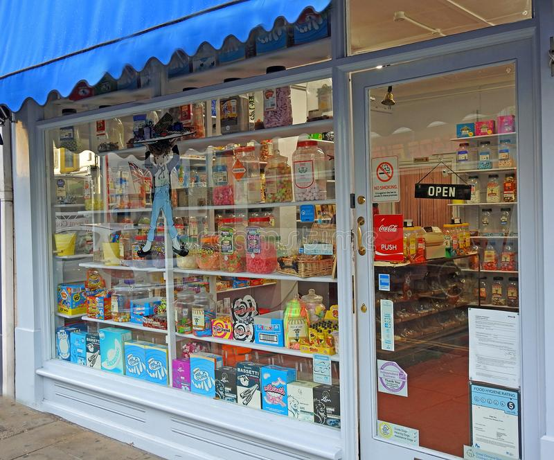 Traditional sweet shop stock photo