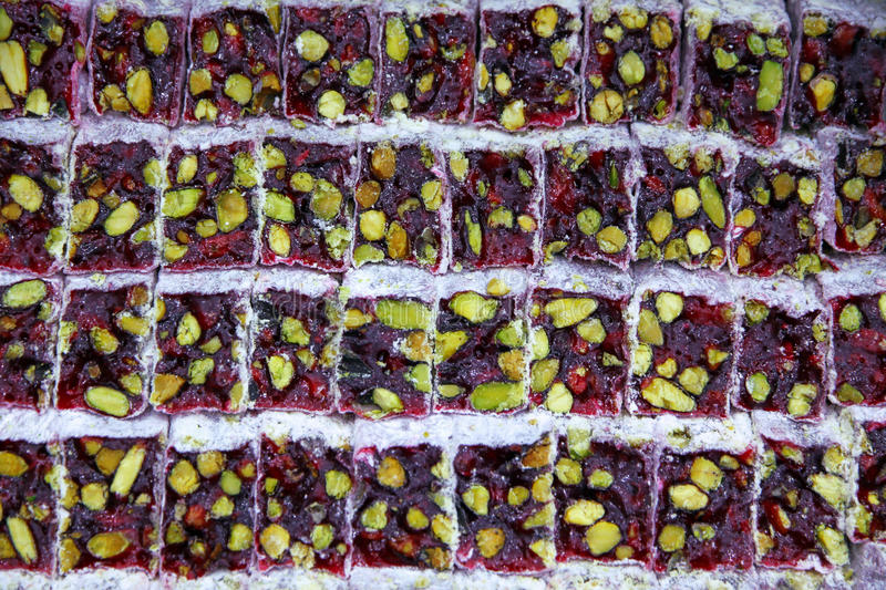 Traditional sweet Turkish Delight - Lokum royalty free stock photography