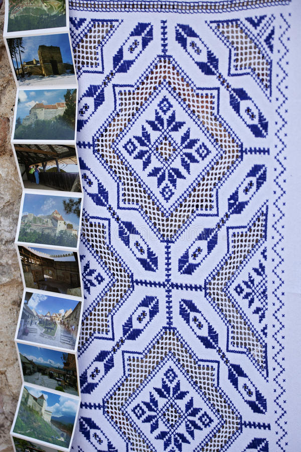 Traditional tablecloth royalty free stock image