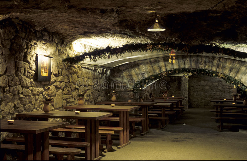 Traditional tavern stock image