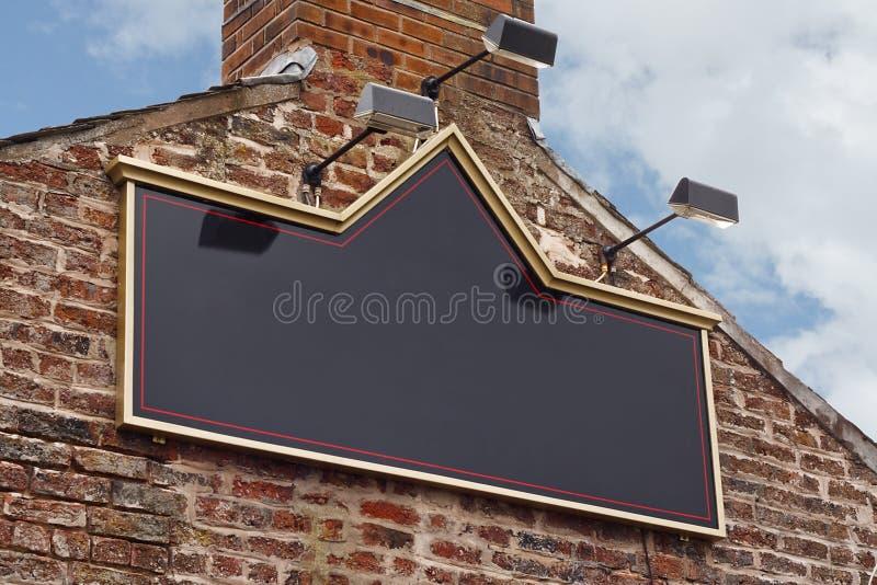 Traditional tavern pub sign stock photo