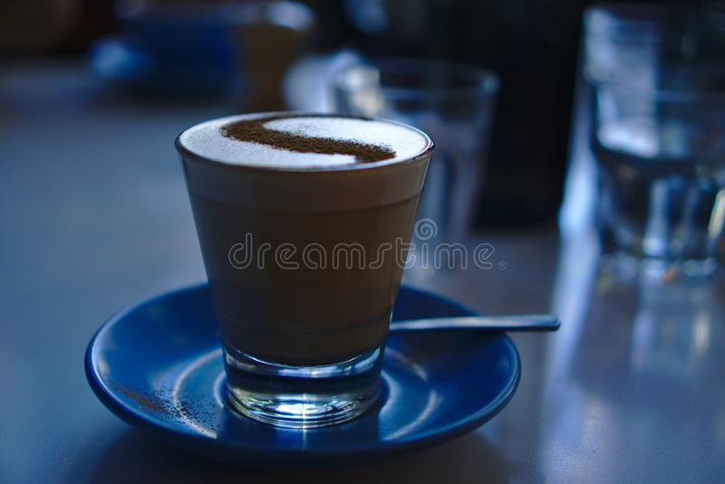 Traditional tea latte with spice stock photo