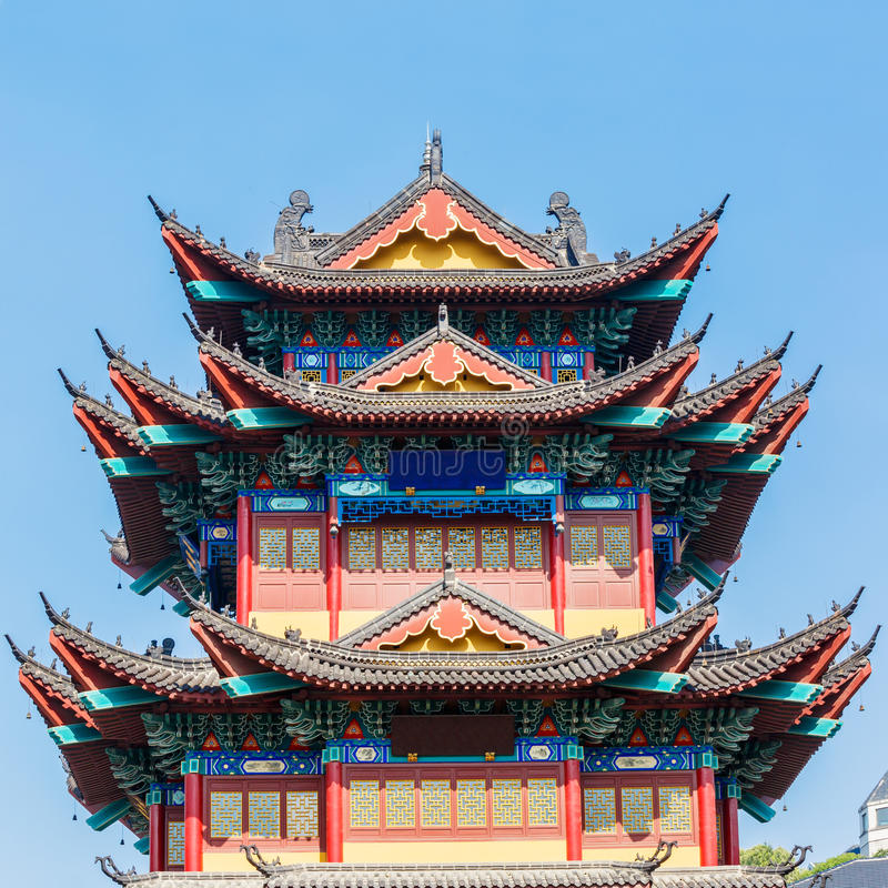 Traditional temple ancient buildings. Chinese Traditional temple ancient buildings stock images