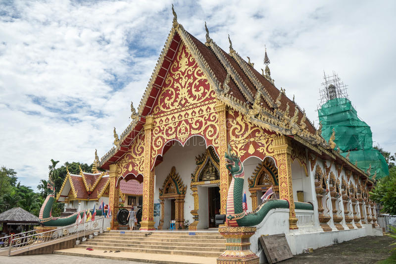 Traditional temple in north of Thailand royalty free stock photos