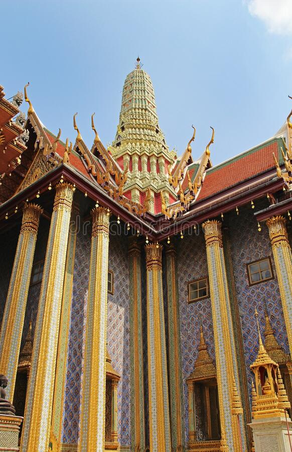 Traditional Thai architecture Grand Palace Bangkok, Thailand royalty free stock photography
