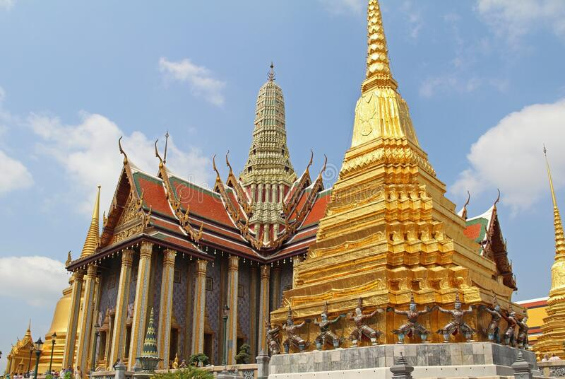 Traditional Thai architecture Grand Palace Bangkok, Thailand royalty free stock image
