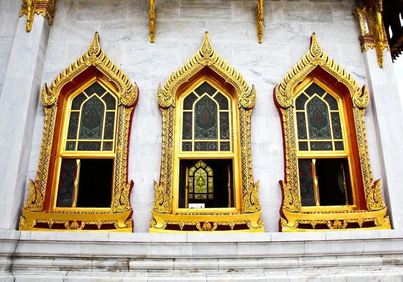 Traditional Thai architecture, Wat Benjamaborphit stock photos