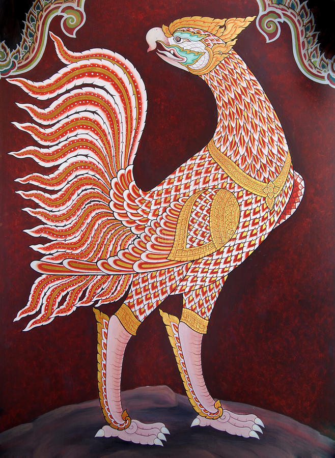 Traditional Thai art painting in Wat Phra Kaew royalty free stock images