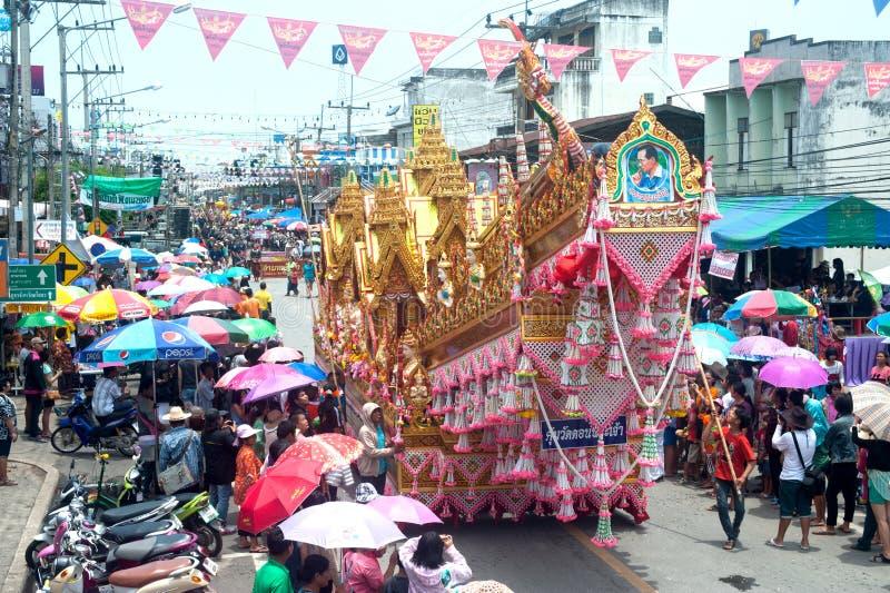 Download Traditional Thai Art On Rocket In Parades 'Boon Bang Fai'showing Editorial Photo - Image: 31434436