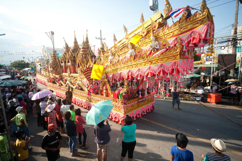 Download Traditional Thai Art On Rocket In Parades 'Boon Bang Fai'showing Editorial Stock Image - Image of antique, design: 31436144