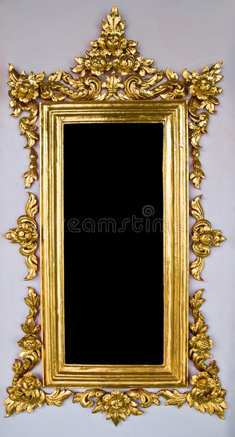 e6e40f08e9f6 Traditional Thai Chinese Golden Empty Frame royalty free stock images