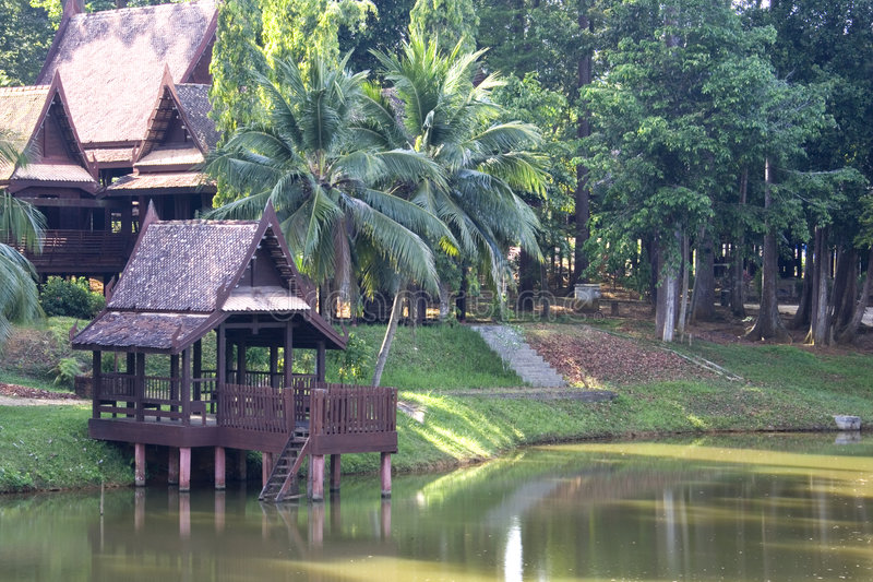 Download Traditional Thai House stock photo. Image of garden, asia - 2107390