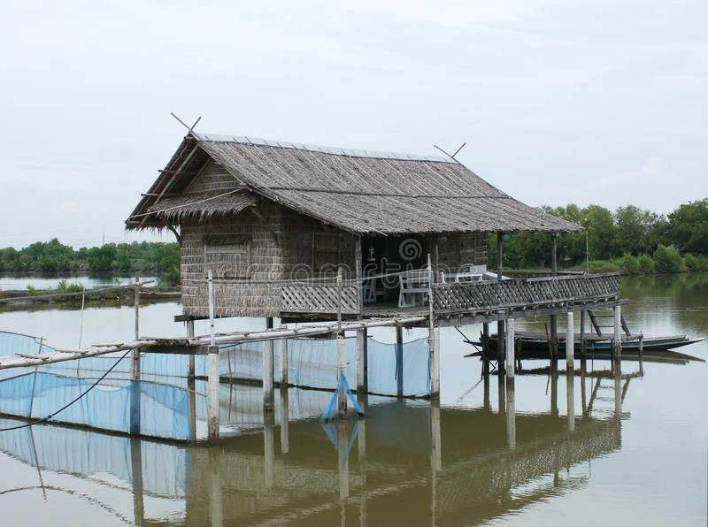 Traditional Thai house on stilts royalty free stock images