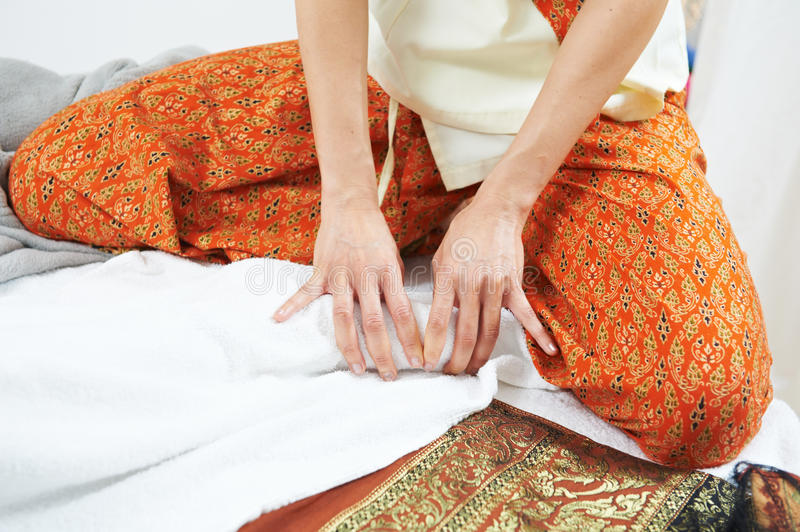 Traditional Thai Massage Health Care Foot Kneading Royalty Free Stock Photo