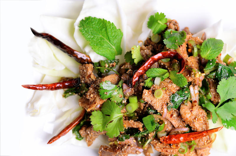 Download Traditional Thai Spicy Salad Stock Photo - Image: 22034418