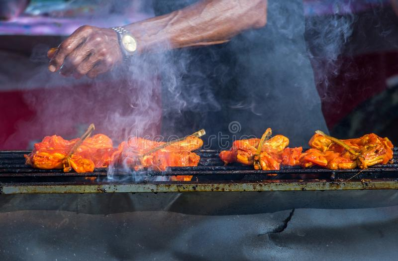Traditional Thai steak roasted pork. royalty free stock images