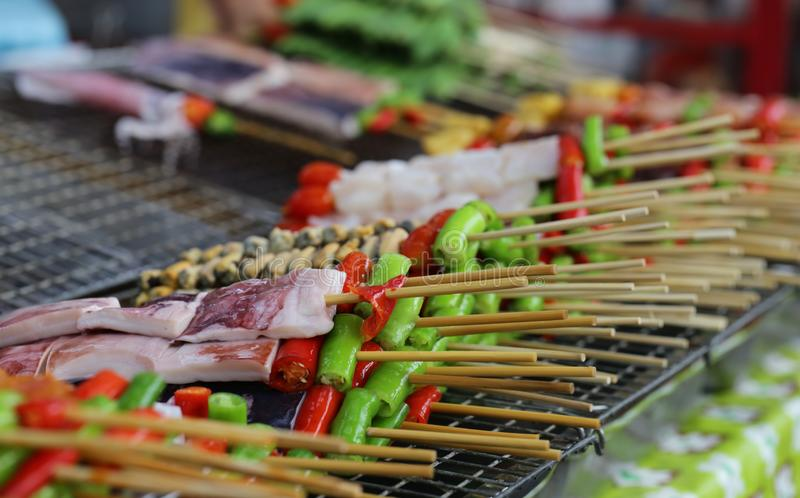 Traditional thai street food. Traditional delicious thai street food royalty free stock images
