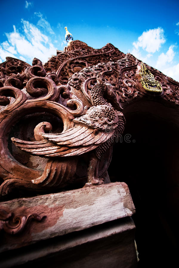 Traditional Thai style ancient gate royalty free stock photography