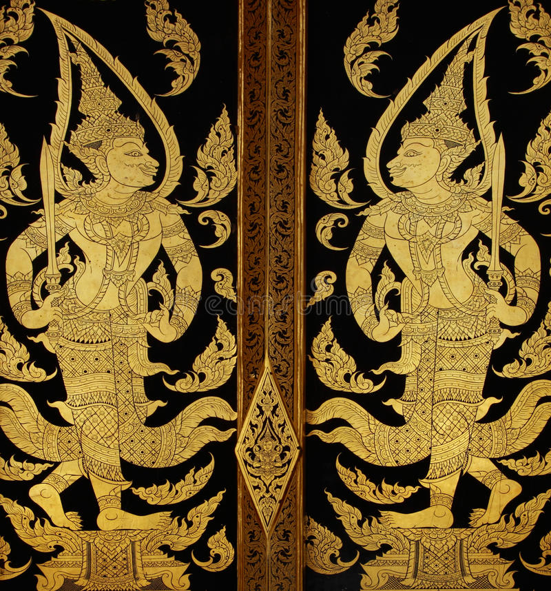 Download Traditional Thai Style Art Painting Royalty Free Stock Photo - Image: 14986035