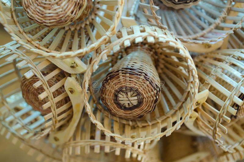 Traditional Thai Style Basketwork Royalty Free Stock Photo