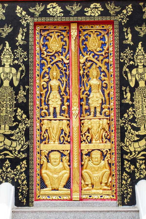 Download Traditional Thai style stock image. Image of detail, carved - 42917031