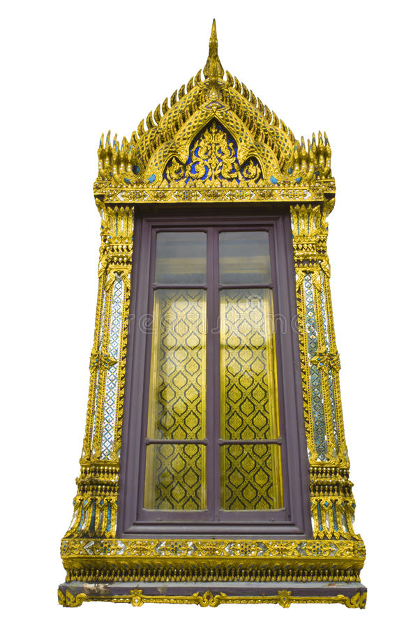 Download Traditional Thai Style Church Window Stock Photo - Image: 28606272