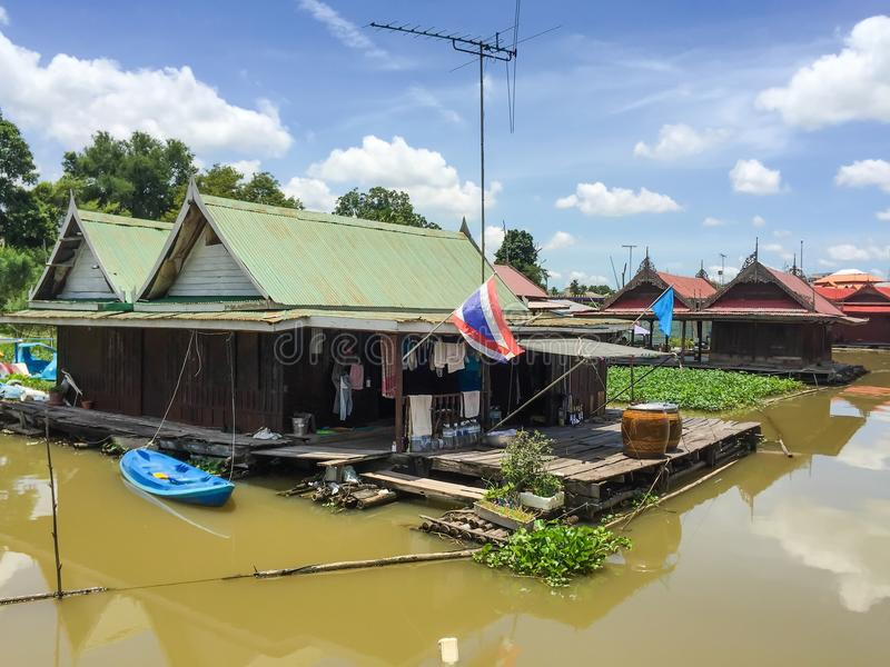 Traditional Thai Style Floating House stock image