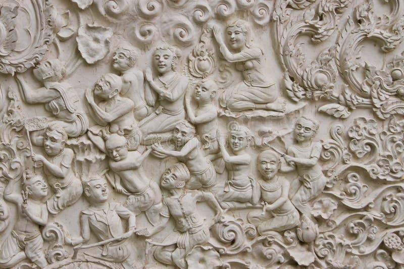 Traditional Thai style molding art