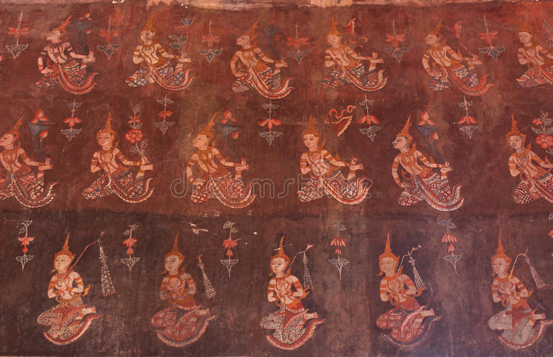 Download Traditional Thai Style Painting Art Stock Photo - Image: 37852582