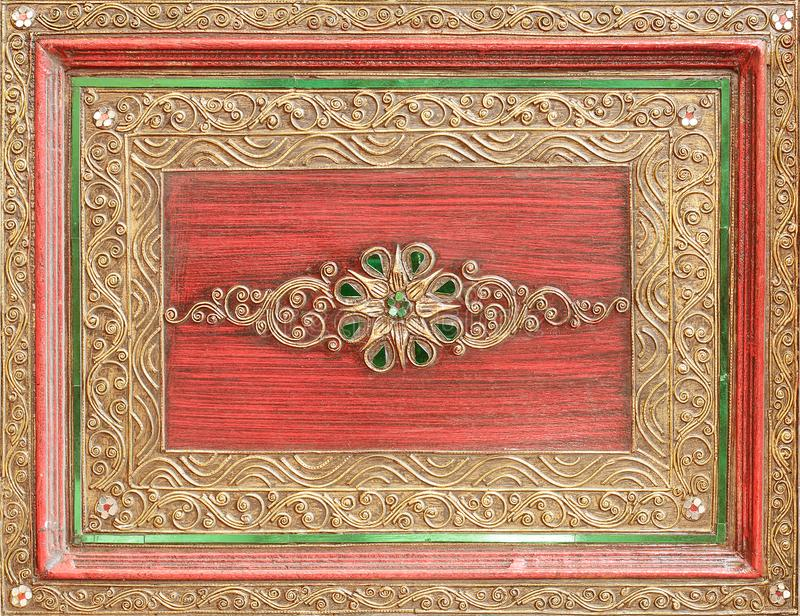 Traditional Thai style pattern decorative at the temple in Thail stock image