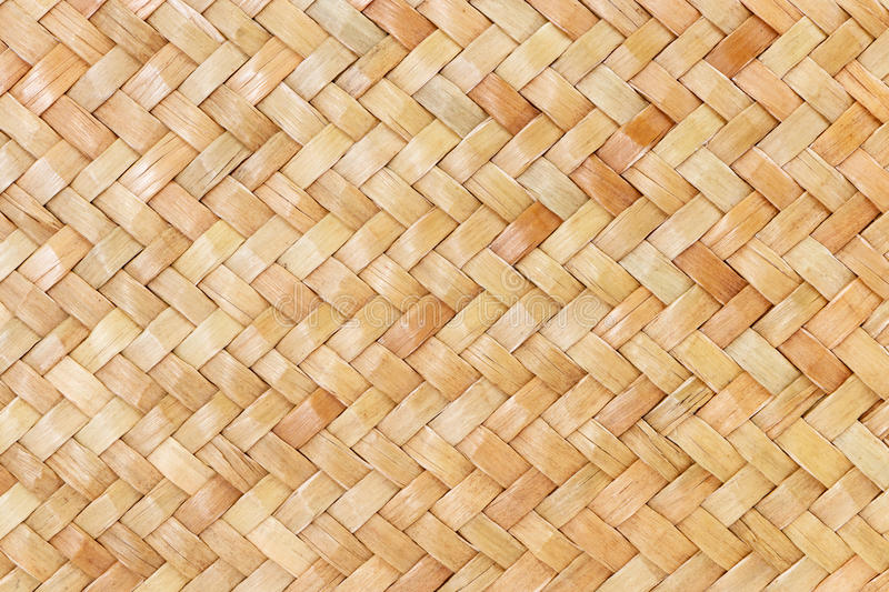 Traditional thai style pattern nature background of brown handicraft weave texture wicker surface for furniture materia. Wallpaper stock images