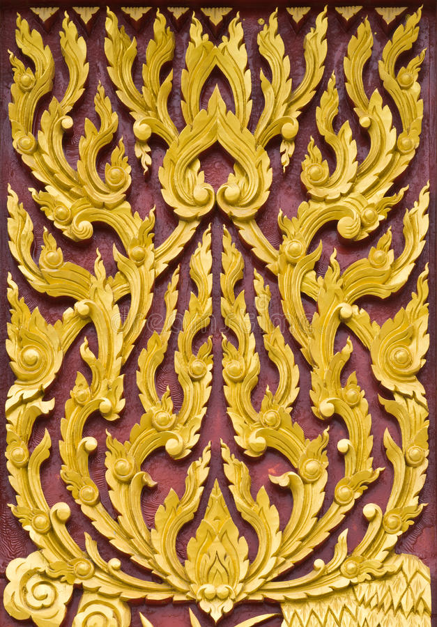 Download Traditional Thai Style Pattern Wall Stock Images - Image: 24313654