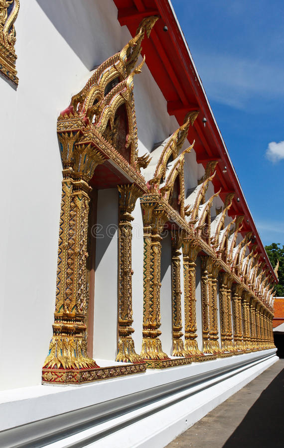 Traditional Thai style windows in temple