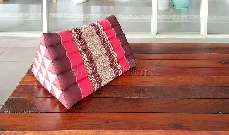 Traditional Thai Triangle Pillow Stock Photo - Image of cushion ...