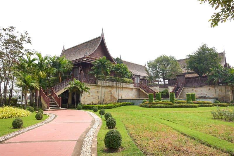 Traditional Thai wooden house stock photos