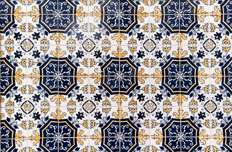 Traditional tile mosaic textured background. stock photos