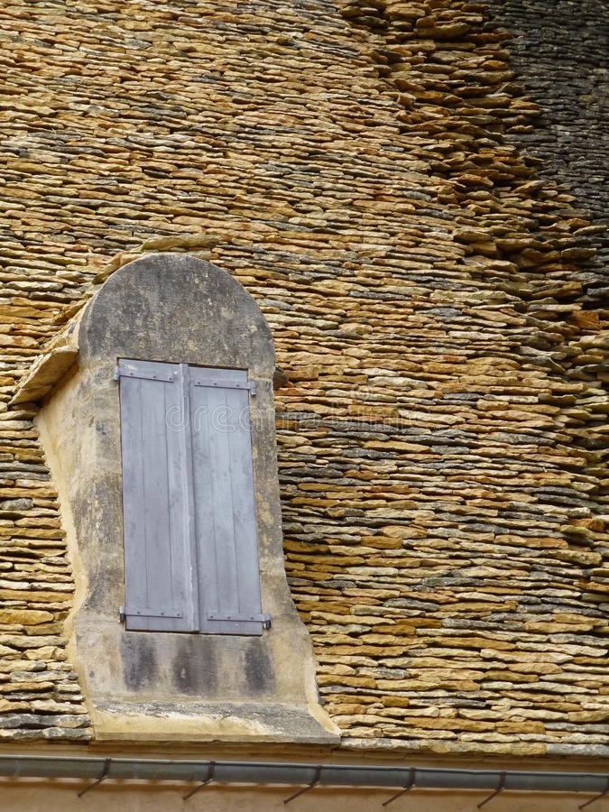 Traditional tiled roof in the Dordogne region of France royalty free stock images