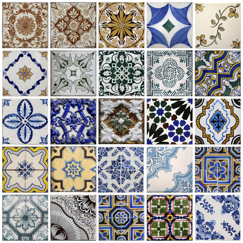 Traditional tiles from Porto, Portugal royalty free stock image