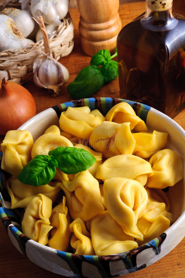 Traditional tortellini pasta royalty free stock images